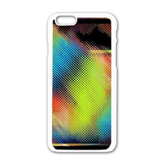 Punctulated Colorful Ground Noise Nervous Sorcery Sight Screen Pattern Apple Iphone 6/6s White Enamel Case by Simbadda
