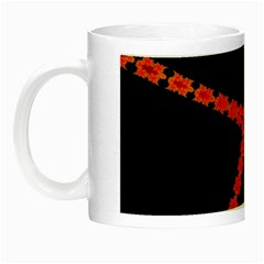 Red Fractal Cross Digital Computer Graphic Night Luminous Mugs by Simbadda
