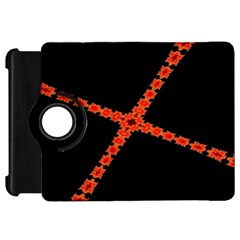 Red Fractal Cross Digital Computer Graphic Kindle Fire Hd 7  by Simbadda