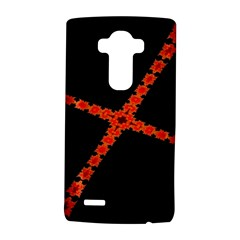 Red Fractal Cross Digital Computer Graphic Lg G4 Hardshell Case by Simbadda