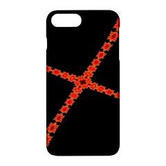 Red Fractal Cross Digital Computer Graphic Apple Iphone 7 Plus Hardshell Case