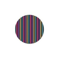 Stripes Colorful Multi Colored Bright Stripes Wallpaper Background Pattern Golf Ball Marker (4 Pack) by Simbadda
