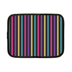 Stripes Colorful Multi Colored Bright Stripes Wallpaper Background Pattern Netbook Case (small)  by Simbadda