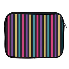 Stripes Colorful Multi Colored Bright Stripes Wallpaper Background Pattern Apple Ipad 2/3/4 Zipper Cases by Simbadda