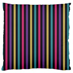 Stripes Colorful Multi Colored Bright Stripes Wallpaper Background Pattern Large Flano Cushion Case (two Sides) by Simbadda