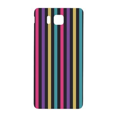Stripes Colorful Multi Colored Bright Stripes Wallpaper Background Pattern Samsung Galaxy Alpha Hardshell Back Case by Simbadda