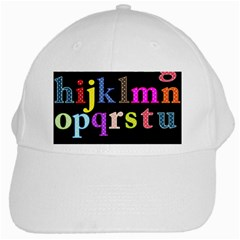 Alphabet Letters Colorful Polka Dots Letters In Lower Case White Cap