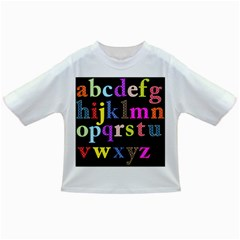 Alphabet Letters Colorful Polka Dots Letters In Lower Case Infant/Toddler T-Shirts