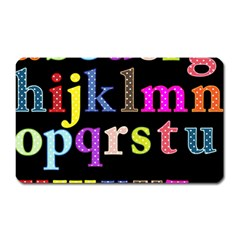 Alphabet Letters Colorful Polka Dots Letters In Lower Case Magnet (Rectangular)