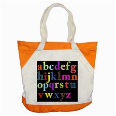 Alphabet Letters Colorful Polka Dots Letters In Lower Case Accent Tote Bag by Simbadda