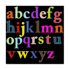 Alphabet Letters Colorful Polka Dots Letters In Lower Case Face Towel