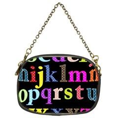 Alphabet Letters Colorful Polka Dots Letters In Lower Case Chain Purses (one Side)  by Simbadda