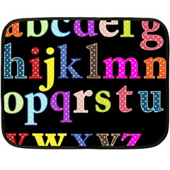 Alphabet Letters Colorful Polka Dots Letters In Lower Case Double Sided Fleece Blanket (mini)  by Simbadda