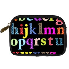 Alphabet Letters Colorful Polka Dots Letters In Lower Case Digital Camera Cases
