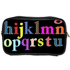 Alphabet Letters Colorful Polka Dots Letters In Lower Case Toiletries Bags 2-Side