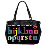 Alphabet Letters Colorful Polka Dots Letters In Lower Case Office Handbags (2 Sides)  Front