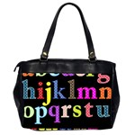 Alphabet Letters Colorful Polka Dots Letters In Lower Case Office Handbags (2 Sides)  Back