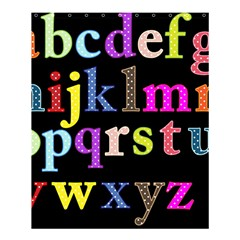 Alphabet Letters Colorful Polka Dots Letters In Lower Case Shower Curtain 60  x 72  (Medium)