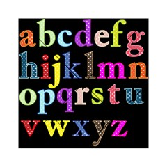 Alphabet Letters Colorful Polka Dots Letters In Lower Case Acrylic Tangram Puzzle (6  x 6 )