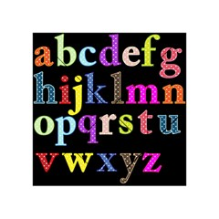 Alphabet Letters Colorful Polka Dots Letters In Lower Case Acrylic Tangram Puzzle (4  X 4 ) by Simbadda