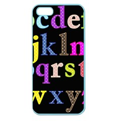 Alphabet Letters Colorful Polka Dots Letters In Lower Case Apple Seamless Iphone 5 Case (color) by Simbadda