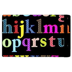 Alphabet Letters Colorful Polka Dots Letters In Lower Case Apple iPad 2 Flip Case