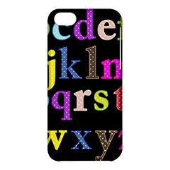 Alphabet Letters Colorful Polka Dots Letters In Lower Case Apple iPhone 5C Hardshell Case