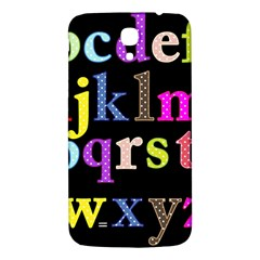 Alphabet Letters Colorful Polka Dots Letters In Lower Case Samsung Galaxy Mega I9200 Hardshell Back Case