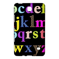 Alphabet Letters Colorful Polka Dots Letters In Lower Case Samsung Galaxy Tab 4 (7 ) Hardshell Case
