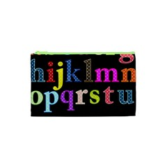 Alphabet Letters Colorful Polka Dots Letters In Lower Case Cosmetic Bag (xs) by Simbadda