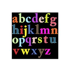 Alphabet Letters Colorful Polka Dots Letters In Lower Case Satin Bandana Scarf