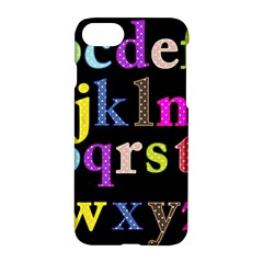 Alphabet Letters Colorful Polka Dots Letters In Lower Case Apple Iphone 7 Hardshell Case by Simbadda