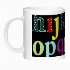 Alphabet Letters Colorful Polka Dots Letters In Lower Case Night Luminous Mugs by Simbadda