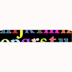 Alphabet Letters Colorful Polka Dots Letters In Lower Case Small Bar Mats by Simbadda