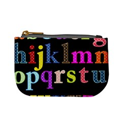 Alphabet Letters Colorful Polka Dots Letters In Lower Case Mini Coin Purses by Simbadda