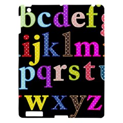 Alphabet Letters Colorful Polka Dots Letters In Lower Case Apple Ipad 3/4 Hardshell Case by Simbadda