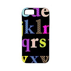Alphabet Letters Colorful Polka Dots Letters In Lower Case Apple Iphone 5 Classic Hardshell Case (pc+silicone) by Simbadda