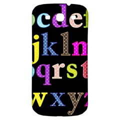 Alphabet Letters Colorful Polka Dots Letters In Lower Case Samsung Galaxy S3 S Iii Classic Hardshell Back Case by Simbadda