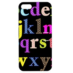 Alphabet Letters Colorful Polka Dots Letters In Lower Case Apple Iphone 5 Hardshell Case With Stand by Simbadda