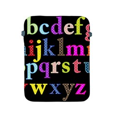 Alphabet Letters Colorful Polka Dots Letters In Lower Case Apple Ipad 2/3/4 Protective Soft Cases by Simbadda