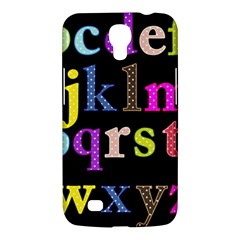 Alphabet Letters Colorful Polka Dots Letters In Lower Case Samsung Galaxy Mega 6 3  I9200 Hardshell Case by Simbadda