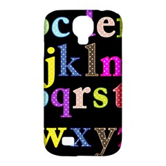Alphabet Letters Colorful Polka Dots Letters In Lower Case Samsung Galaxy S4 Classic Hardshell Case (pc+silicone) by Simbadda