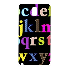 Alphabet Letters Colorful Polka Dots Letters In Lower Case Samsung Galaxy Note 3 N9005 Hardshell Back Case by Simbadda