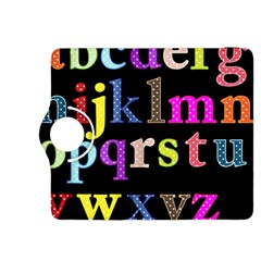 Alphabet Letters Colorful Polka Dots Letters In Lower Case Kindle Fire Hdx 8 9  Flip 360 Case by Simbadda
