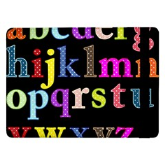 Alphabet Letters Colorful Polka Dots Letters In Lower Case Samsung Galaxy Tab Pro 12 2  Flip Case by Simbadda