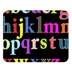 Alphabet Letters Colorful Polka Dots Letters In Lower Case Double Sided Flano Blanket (large)  by Simbadda