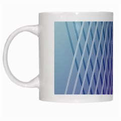 Abstract Lines Background White Mugs by Simbadda