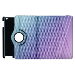 Abstract Lines Background Apple Ipad 3/4 Flip 360 Case by Simbadda