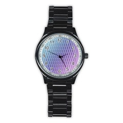 Abstract Lines Background Stainless Steel Round Watch by Simbadda