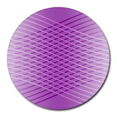 Abstract Lines Background Pattern Round Mousepads by Simbadda